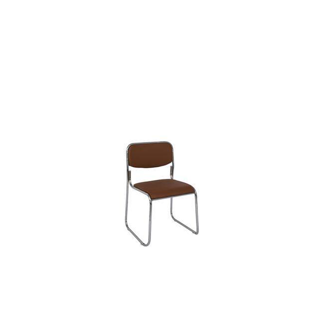 CAMPUS Καρέκλα Χρώμιο/Soft Pu Καφέ Ε553,3W