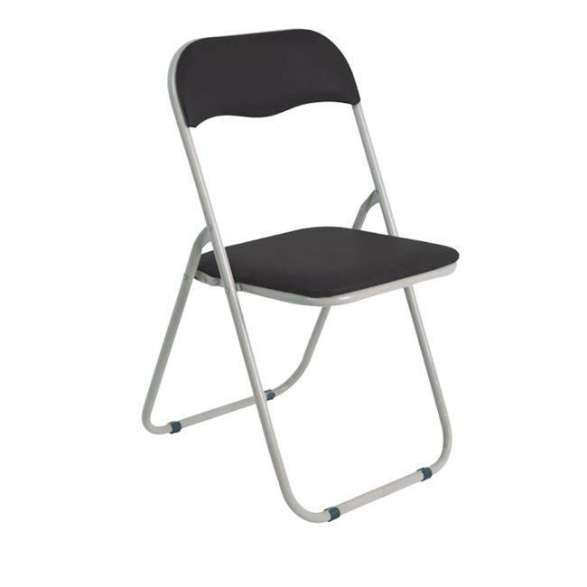 LINDA Καρέκλα Πτυσ/νη Pvc Μαύρο (Βαφή Γκρι) Ε557,1