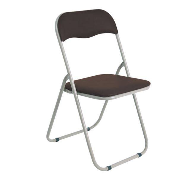 LINDA Καρέκλα Πτυσ/νη Pvc Καφέ (Βαφή Γκρι) Ε557,3