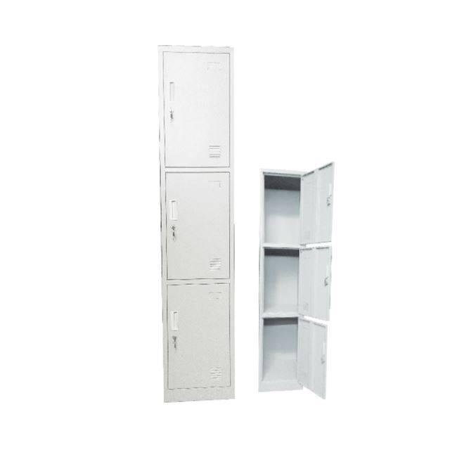 LOCKER 3 θεσ.Μεταλλικό 38x45x185cm Λευκό Ε6006