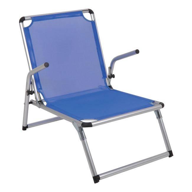 BRINY Πολυθρονάκι Παραλίας ALU/Μπλε Ε603,1
