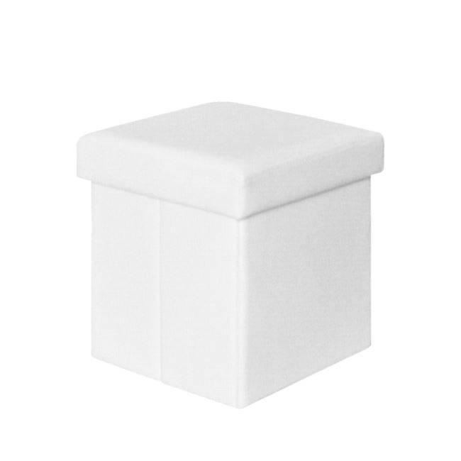 ORION Αποθ/κό Σκαμπώ PU Άσπρο 38x38x38cm Ε7044,1