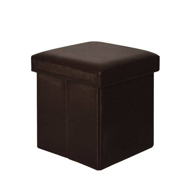ORION Αποθ/κό Σκαμπώ PU Σκ.Καφέ 38x38x38cm Ε7044,2