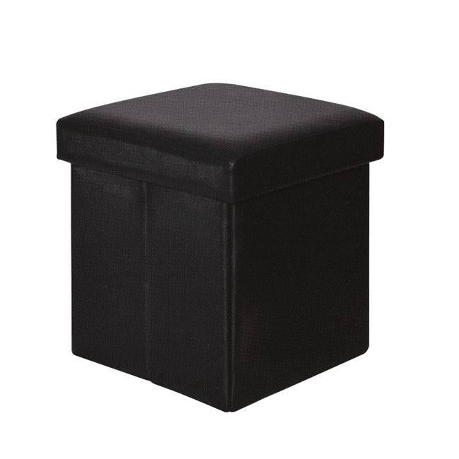ORION Αποθ/κό Σκαμπώ PU Μαύρο 38x38x38cm Ε7044,3