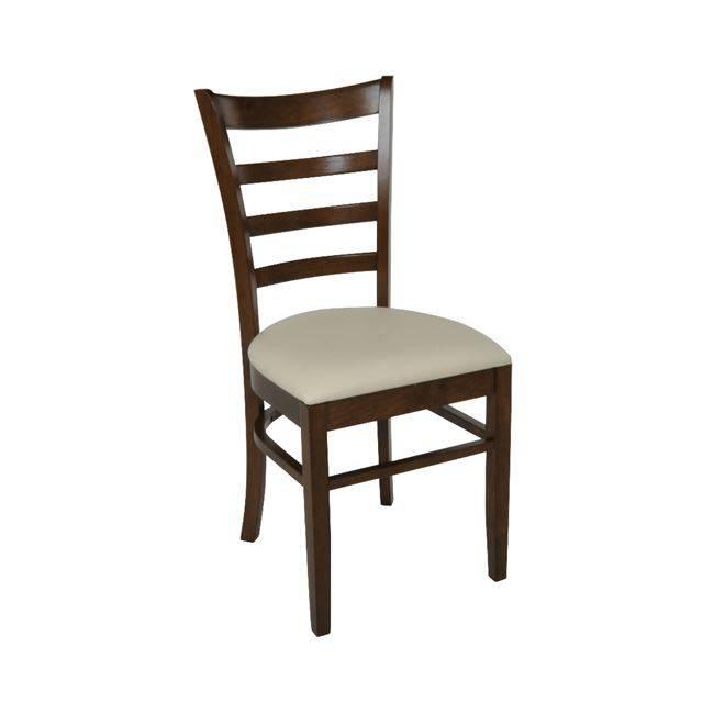 NATURALE-L Καρέκλα Καρυδί/PVC Εκρού Ε7052,3