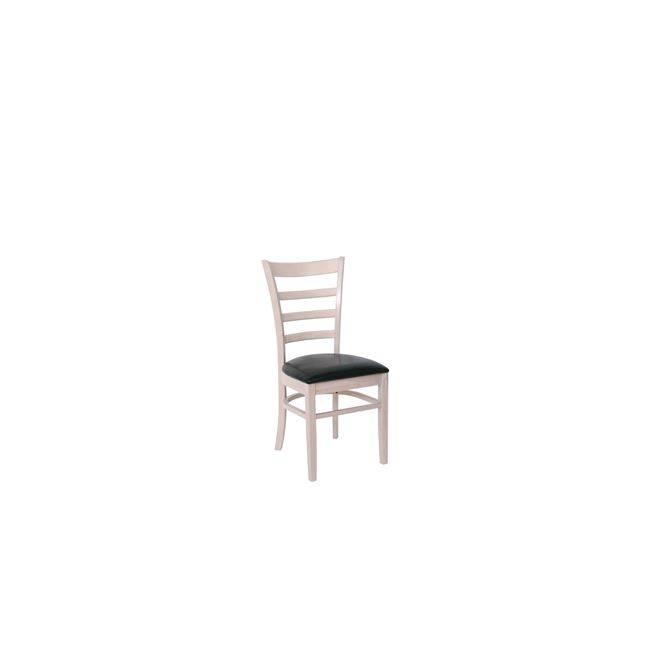 NATURALE-L Καρέκλα White Wash/Pu Μαύρο Ε7052