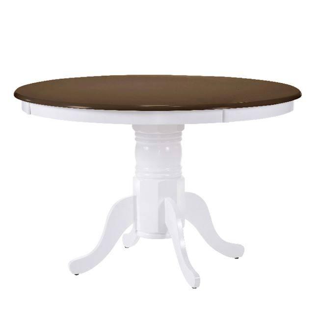 NIRVANA Τραπέζι Φ106 Καρυδί/Άσπρο Ε7059,5
