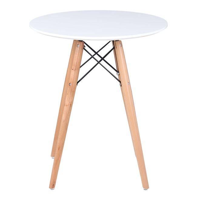 ART Wood Τραπέζι Φ60cm Λευκό Ε7082,1