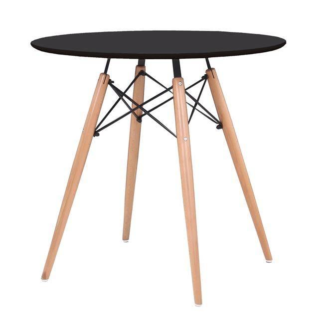 ART Wood Τραπέζι Φ80/H74cm Μαύρο Ε7083,2