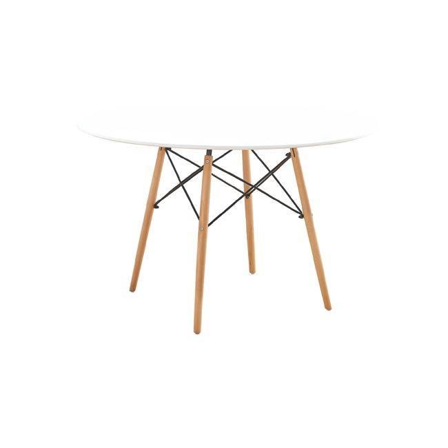ART Wood Τραπέζι Φ120/H75cm Λευκό Ε7084,1