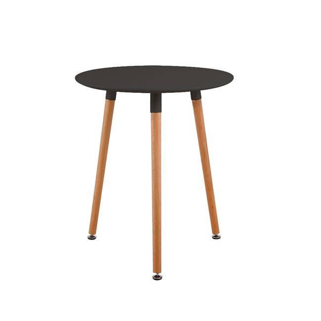 ART Τραπέζι Φ60cm Μαύρο Ε7089,2