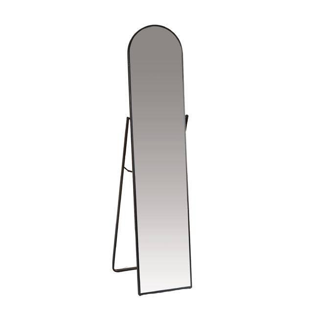 HARVEY Καθρέπτης Δαπέδου 40x43x160cm Μεταλ.Μαύρος Ε7184,1
