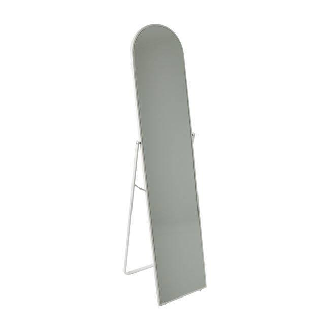 HARVEY Καθρέπτης Δαπέδου 40x43x160cm Μεταλ.Άσπρος Ε7184,2