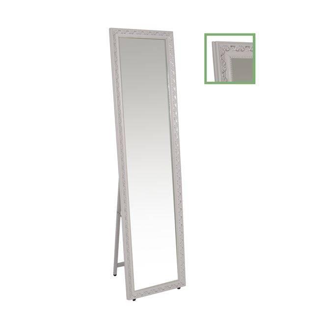 MIRROR Καθρέπτης Δαπέδου/Τοίχου 37x146 Γύψινος, Antique White Ε7185,1
