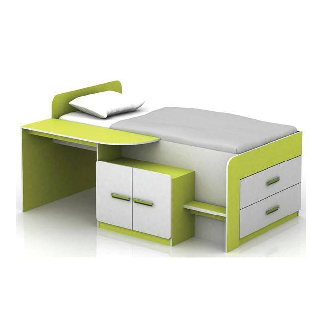 JENE Σύνθεση Παιδικού Δωματίου Άσπρο/Lime Ε7360,1