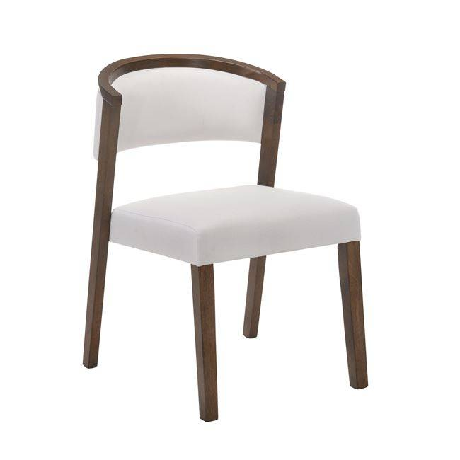 KEVIN Καρέκλα Καρυδί/Ύφασμα Εκρού Ε7766,12