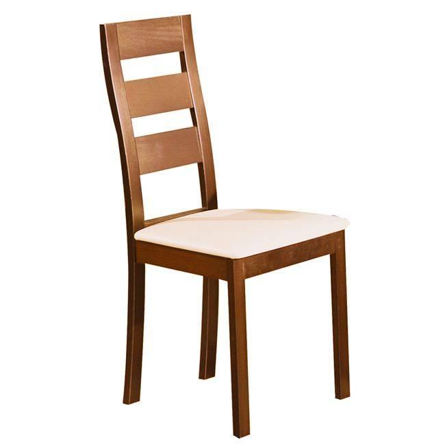MILLER Καρέκλα Οξυά Honey Oak/PVC Εκρού Ε782,1