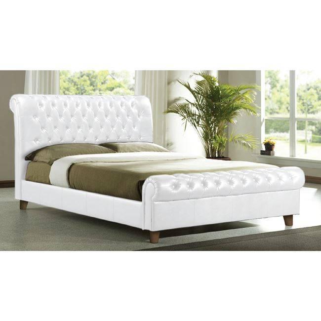 HARMONY Κρεβάτι 160x200cm Pu Άσπρο Ε8052,1