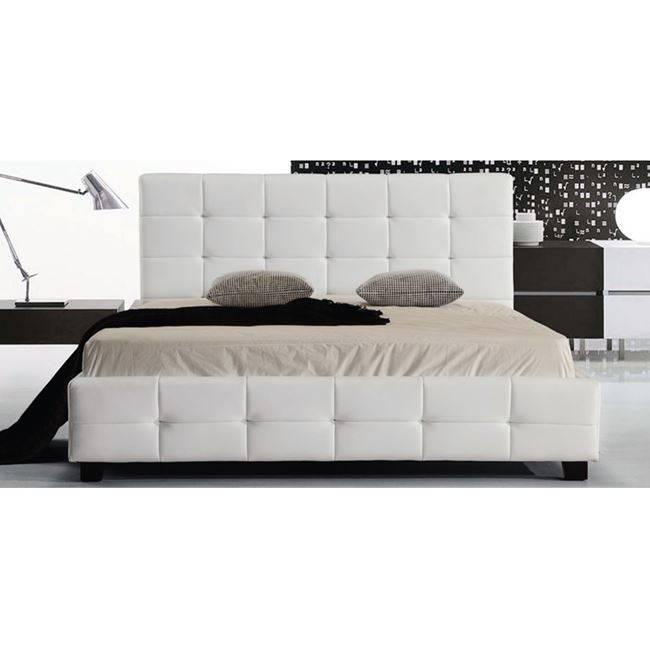 FIDEL Κρεβάτι 160x200cm Pu Άσπρο Ε8053,1