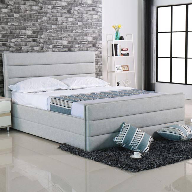 APOLLO Κρεβάτι 160x200cm Ύφασμα Sand-Grey Ε8076
