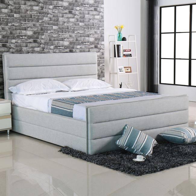 APOLLO Κρεβάτι 180x200cm Ύφασμα Sand-Grey Ε8077