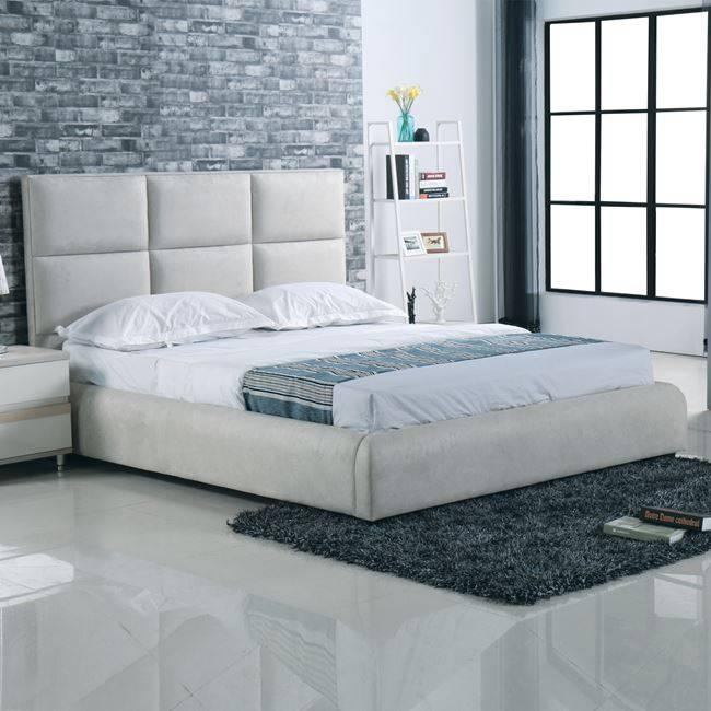 MAXIM Κρεβάτι 160x200cm Ύφασμα Grey-Stone Ε8080