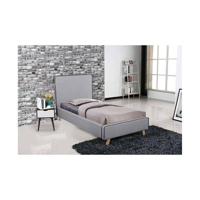 MORISSON Κρεβάτι 90x190cm Ύφασμα Αν.Γκρι Ε8081,1