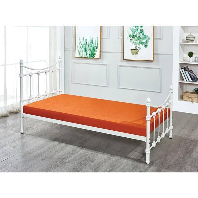 LANCER Κρεβάτι Μονό 90x190cm Μεταλ.Άσπρο Ε8097,2