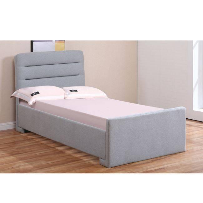 DORAL Κρεβάτι 140x190cm Ύφασμα Γκρι/Αποθ.Χώρος Ε8101,1