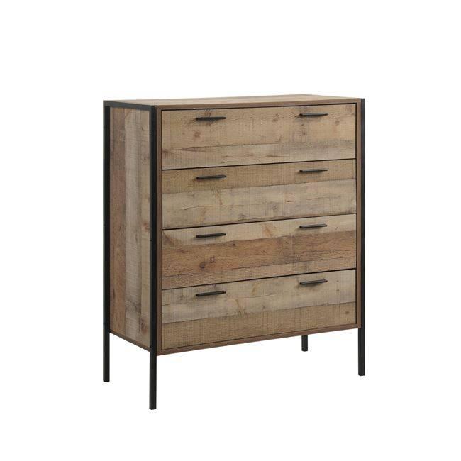 PALLET Συρταριέρα 4-Συρτ.84x40x100 Antique Oak Ε8435