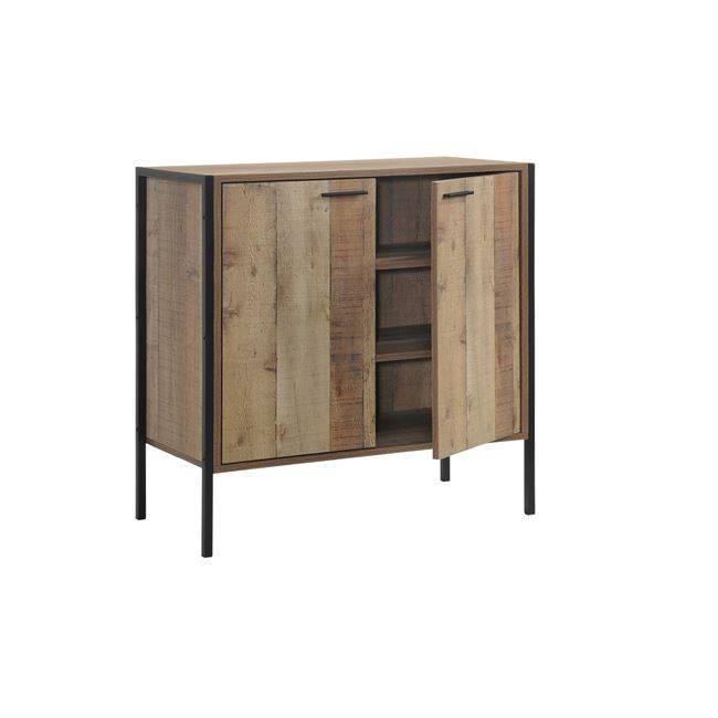PALLET Ντουλάπι-Παπουτσοθήκη 2-Πόρτες 80x40x80 Antique Oak Ε8440