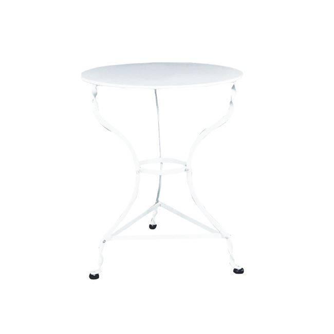 ΠΑΡΑΔΟΣΙΑΚΟ Τραπ.Φ60cm Καφενείου Άσπρο K/D Ε8501,1