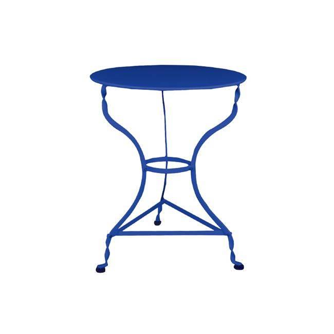 ΠΑΡΑΔΟΣΙΑΚΟ Τραπ.Φ60cm Καφενείου Μπλε K/D Ε8501,3
