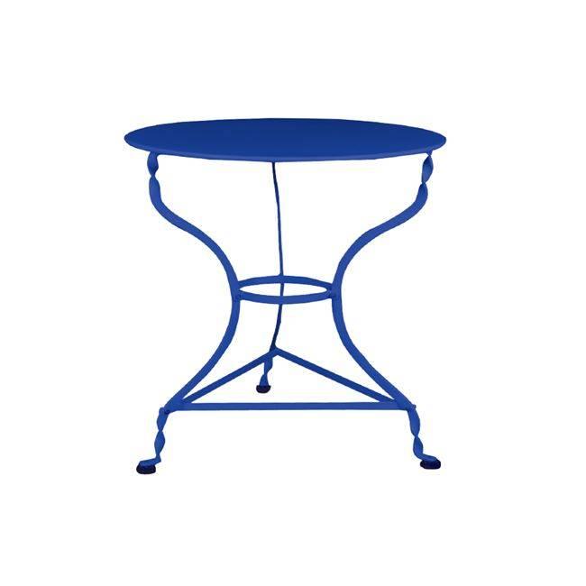 ΠΑΡΑΔΟΣΙΑΚΟ Τραπ.Φ70cm Καφενείου Μπλε K/D Ε8502,3