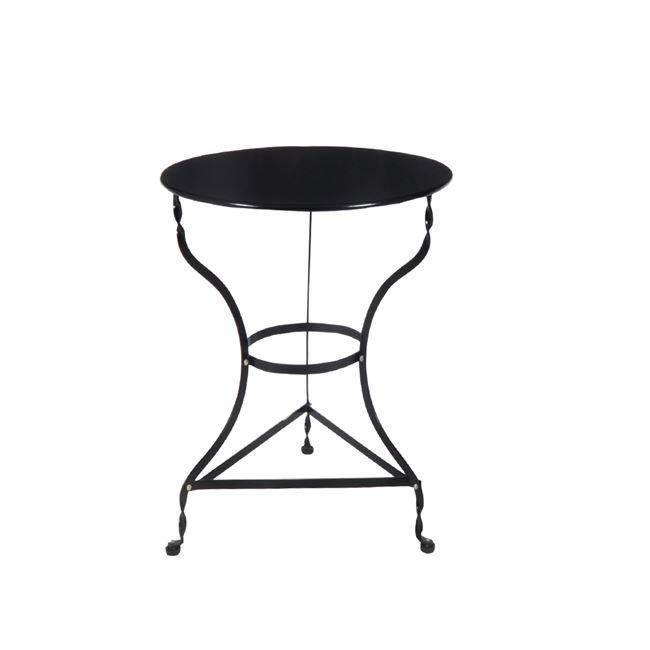 ΠΑΡΑΔΟΣΙΑΚΟ Τραπ.Φ70cm Καφενείου Μαύρο K/D Ε8502,7