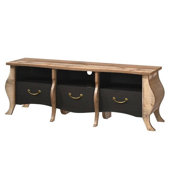 SCARLET Έπιπλο TV 167x47x59 Antique Oak/Ebony Oak(Ραμποτέ) Ε8703,2