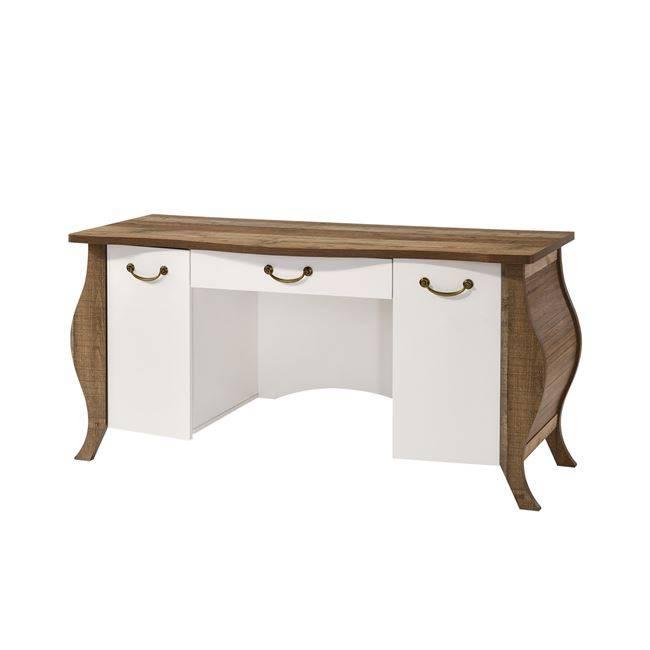 SCARLET Γραφείο 155x60x76 Antique Oak/Άσπρο(Ραμποτέ) Ε8712,1