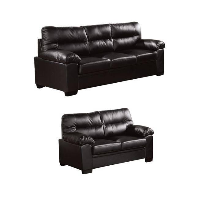 IMPERIAL Set (3-θέσιος+2-θέσιος) Bonded Leather/PU Μαύρο Ε9421,S2
