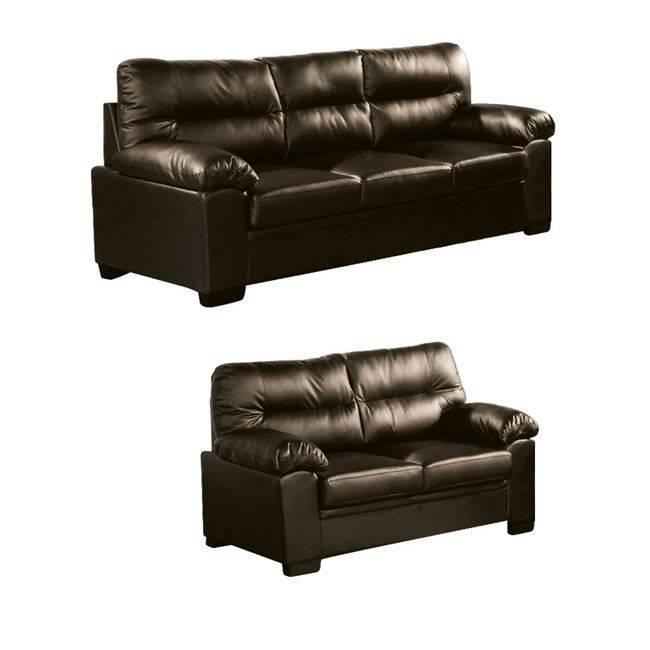 IMPERIAL Set (3-θέσιος+2-θέσιος) Bonded Leather/PU Σκ.Καφέ Ε9421,S3