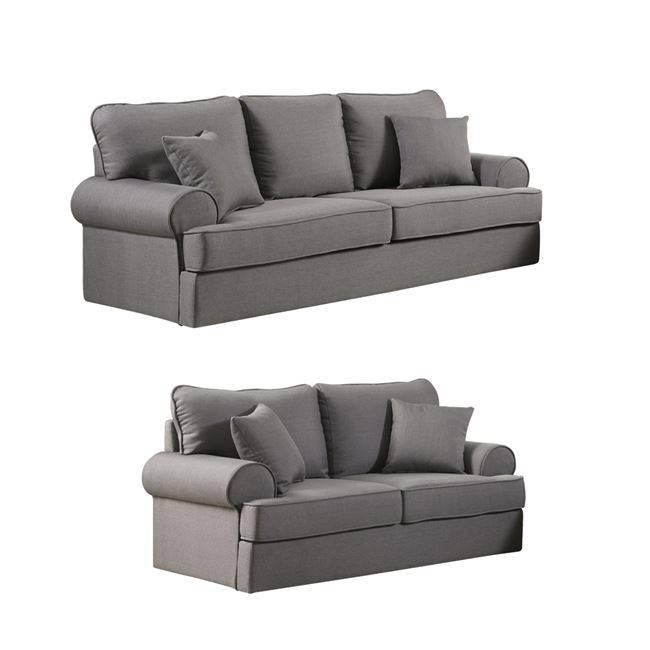 ROBINSON Set Καναπέδες (3θέσ+2θέσ) Ύφασμα Γκρι Ε9431,S