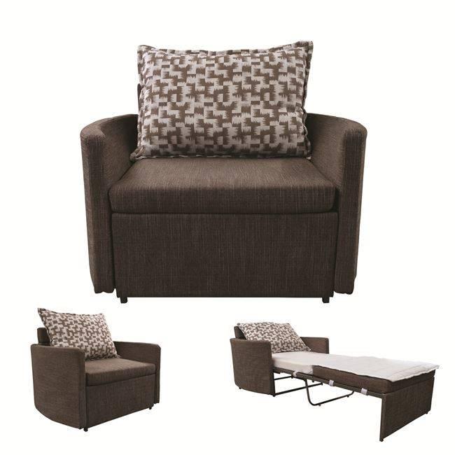 ADAMS Πολυθρόνα-Κρεβάτι Ύφασμα Καφέ Ε9432,12