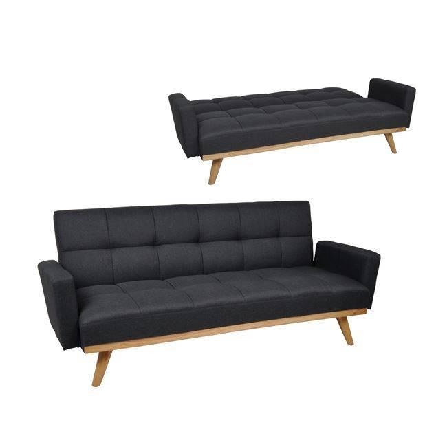 INTEL Καναπ.Κρεβάτι Ύφασμα Σκ.Γκρι 200x91x84cm Ε9437,1