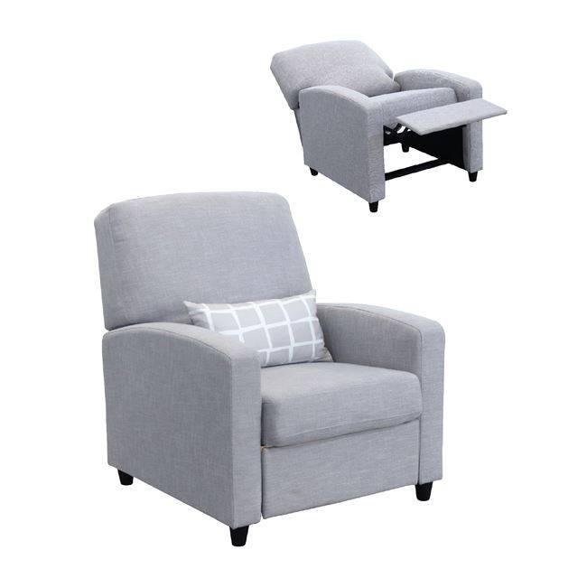 SMART Πολυθρόνα Relax Ύφασμα Γκρι Ε958,11