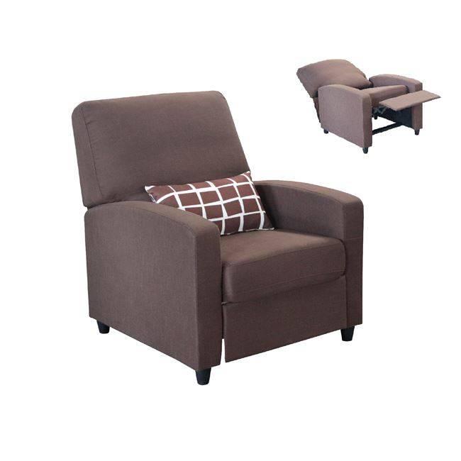 SMART Πολυθρόνα Relax Ύφασμα Καφέ Ε958,12
