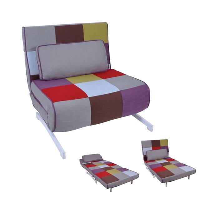 FALCO Πολυθρόνα-Κρεβάτι Ύφασμα Patchwork Ε9627,1