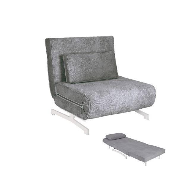 FALCO Πολυθρόνα-Κρεβάτι Ύφασμα Γκρι Ε9627,11