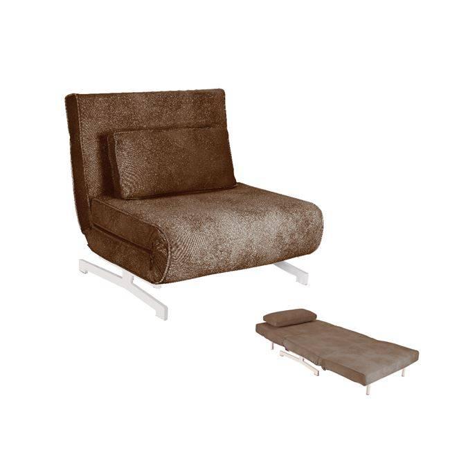 FALCO Πολυθρόνα-Κρεβάτι Ύφασμα Καφέ Ε9627,12