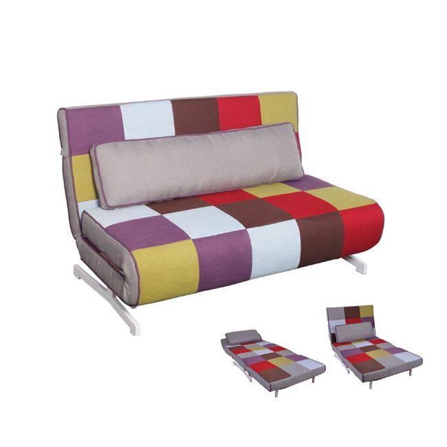 FALCO Καναπές 2 θέσιος-Κρεβάτι Ύφ.Patchwork 140x89x88cm Ε9627,2