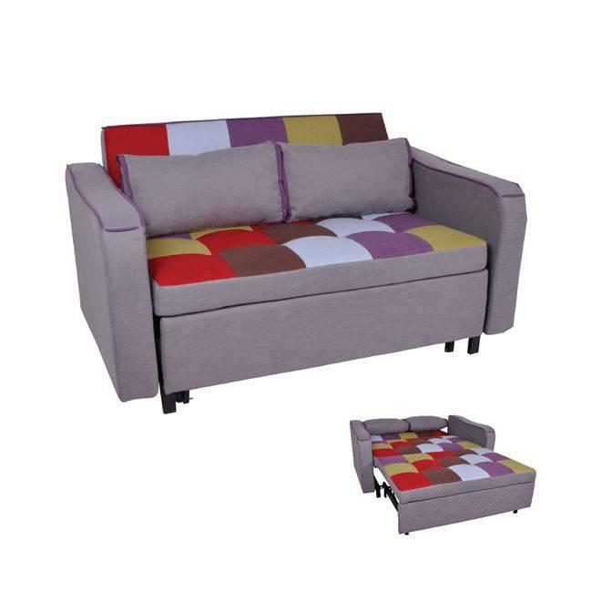 KENT Καναπές 2θέσιος-Κρεβάτι Ύφ.Patchwork 147x86x82cm Ε9628,2