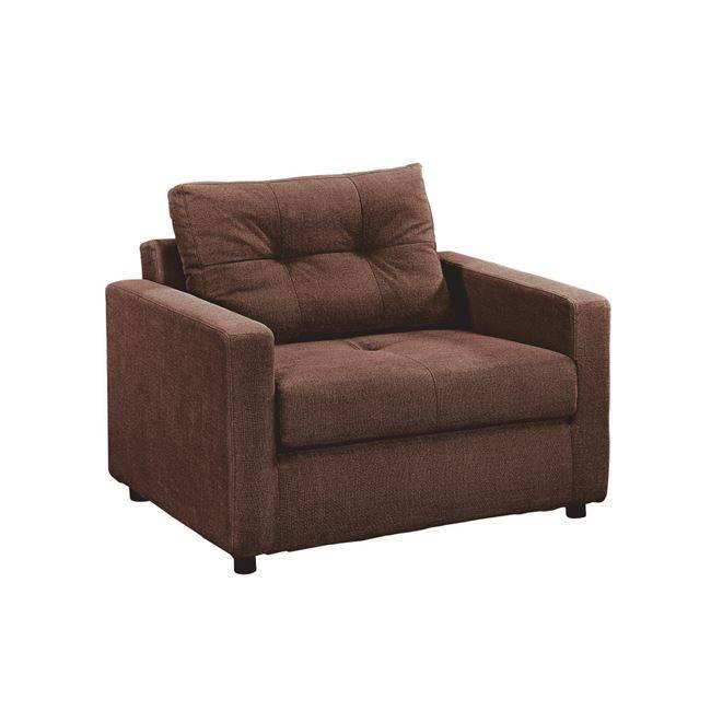 DEVON Πολυθρόνα-Κρεβάτι Ύφασμα Καφέ Ε9629,12